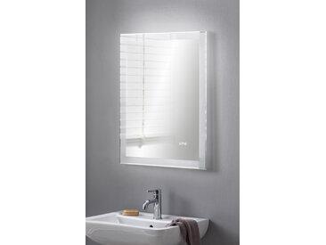 BadeDu SHINY LED Spiegel mit LED Uhr 60 x 80 cm