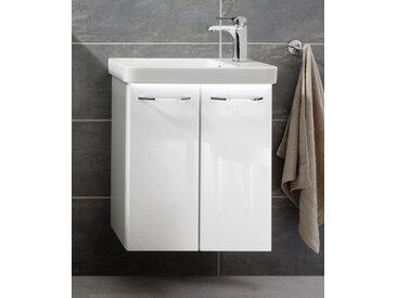 Fackelmann MILANO Gäste-WC Set 3-teilig, 55 cm breit, Weiß, Keramik