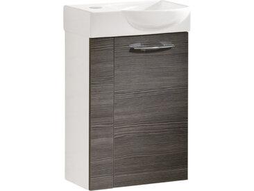 Fackelmann VADEA Gäste WC Set 45 cm, rechts, Weiß / Schwarz