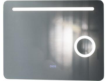 BadeDu TWO in ONE LED Spiegel + Kosmetikspiegel 80 x 62 cm