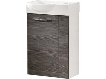 Fackelmann VADEA Gäste WC Set 45 cm, links, Weiß / Schwarz