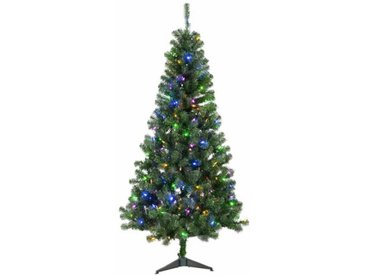 Künstlicher Weihnachtsbaum 183 cm Grün mit 250 Leuchten in Bunt und Weiß mit Ständer Bellingham