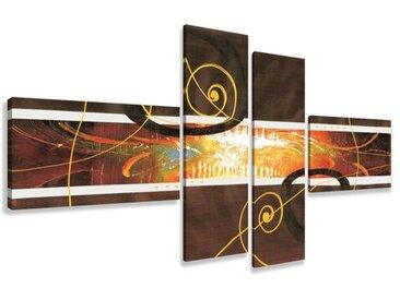 4-tlg. Leinwandbilder-Set Modern