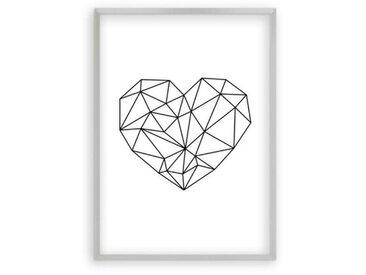 Poster Geometrisches Herz