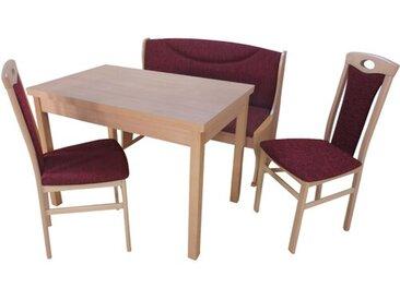Essgruppe Georgia mit ausziehbarem Tisch, 2 Stühlen und einer Bank