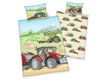 Renforcé-Kinderbettwäsche Tractor