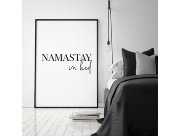 """Gerahmtes Poster """"Namastay in Bed"""""""