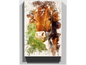 Leinwandbild Kuh auf der Weide (3)