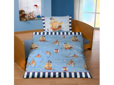 Renforcé-Kinderbettwäsche Capt´n Sharky