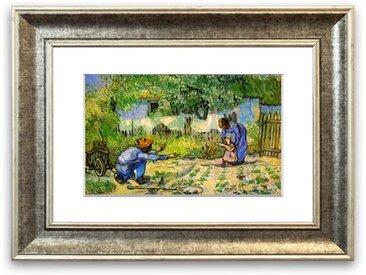 Gerahmtes Poster Erste Schritte von Van Gogh