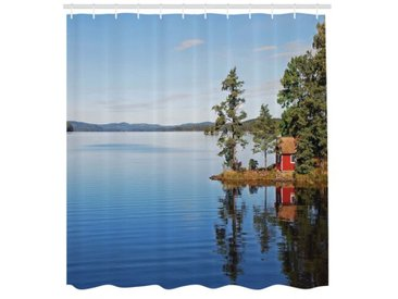 Duschvorhang Haus am See