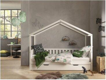 Hausbett Matos mit Unterbettschublade, 90 x 200 cm