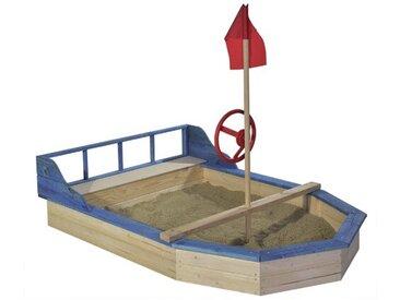 Bootförmiger Sandkasten 162 cm x 120 cm