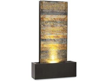 Bodenbrunnen Raincastle aus Metall mit Licht
