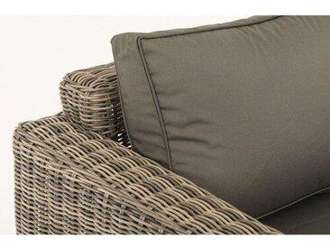 5-Sitzer Lounge Set aus Polyrattan mit Polster