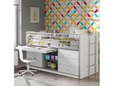 Halbhochbett Briggs mit Schreibtisch, 90 x 200 cm