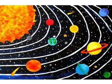 "Leinwandbild ""Solar System Black"" von Nicola Joyner, Kunstdruck"