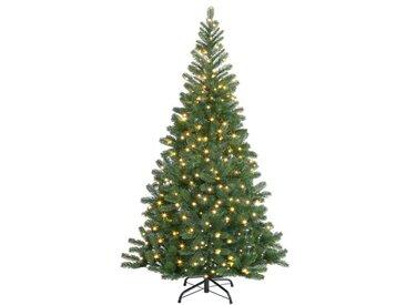 Künstlicher Weihnachtsbaum 140 cm Grün mit 100 LED-Leuchten