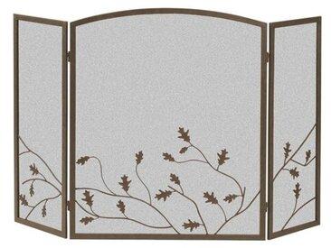 Kamingitter Oak Leaf mit 3 Paneelen aus Stahl