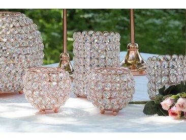 Kerzenleuchter aus Kristallglas und Metall