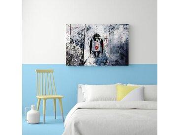 Leinwandbild Affe von Banksy
