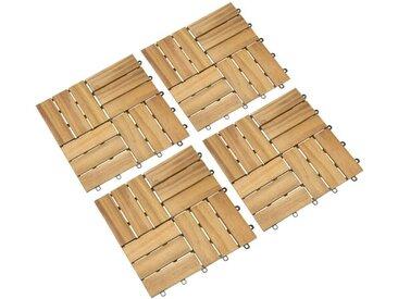 30 cm x 30 cm Grundfliese Haleigh aus Holz