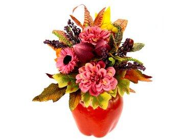 Kunstblume Dahlien in Vase