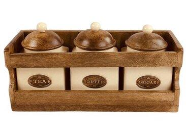 3-tlg. Kaffee, Tee & Zucker Dosen Set