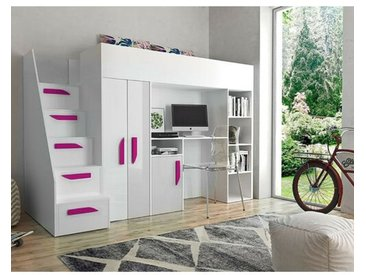 Hochbett Farrar mit Möbel-Set, 90 x 200 cm