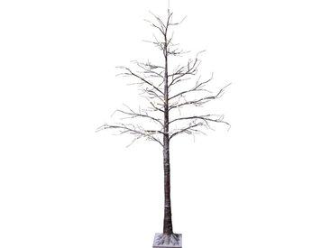 Künstlicher Weihnachtsbaum 210 cm mit 124 LED-Leuchten in Warmweiß und Ständer Belle