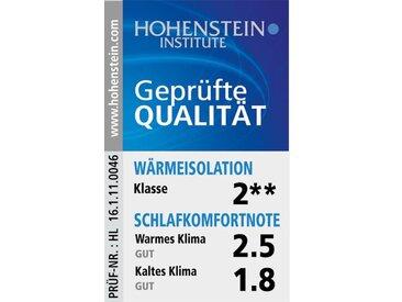 """Faserbettdecke mit Polyesterfüllung Vom Institut Hohenstein auf Klimakomfort getestet, Note """"gut"""", nach Ökotex Standard 100"""