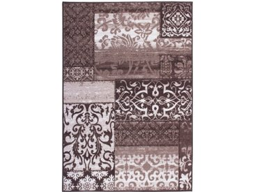 Flachgewebe-Teppich Vintage in Taupe