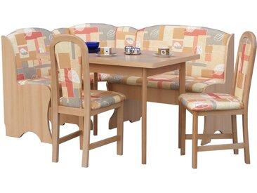 Eckbankgruppe Marvin mit ausziehbarem Tisch, 2 Stühlen und einer Bank