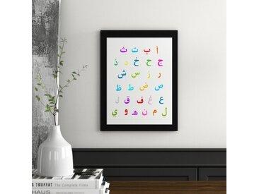 Gerahmtes Poster Arabisches Alphabet