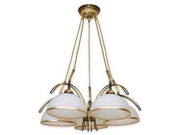 Kronleuchter mit Lampenschirmen 5-flammig Tiya