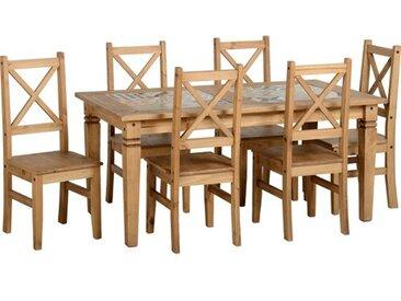 Essgruppe Jordie mit 6 Stühlen