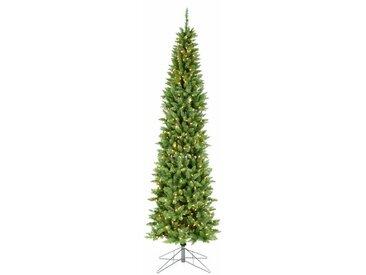 Künstlicher Weihnachtsbaum 213 cm Grün mit 350 LED-Leuchten in Farbig/Weiß und Ständer Dursley