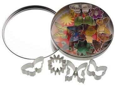 Ausstechformen-Set Schmetterlinge und Blumen