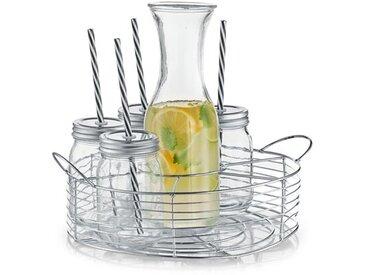 8-tlg. Servier-Set mit Gläsern