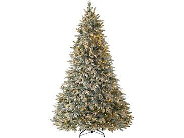 Künstlicher Weihnachtsbaum Weiß mit 450 LEDs in Transparent/Weiß und Ständer