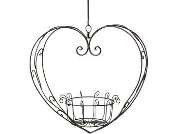 2-tlg. Blumenampel-Set Ginther Herz aus Metall