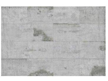 Matt Fototapete Große Betonplatten 1,9 m x 288 cm