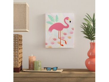 Leinwandbild Flamingo Stitched Art