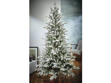Künstlicher Weihnachtsbaum 152 cm Grün mit Ständer Flocked Balsam