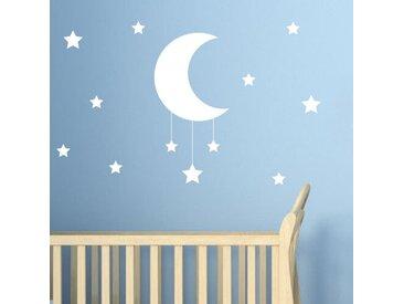 Wandsticker Stern & Mond