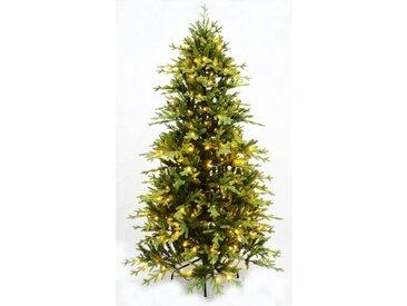 Künstlicher Weihnachtsbaum 241 cm in Grün mit 400 Leuchten in Transparent/Weiß