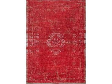 Flachgewebe-Teppich aus Baumwolle in Rot