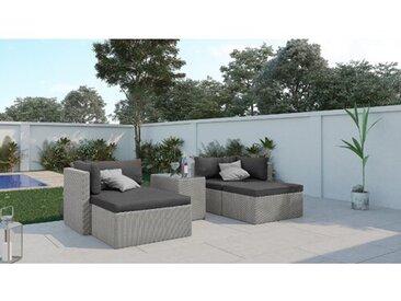 4-Sitzer Lounge-Set Schoen aus Polyrattan mit Polster