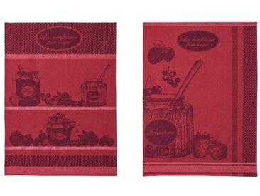 2-tlg. Geschirrtuch-Set Fruits Jam Pot Tea
