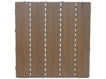 50 cm x 50 cm Grundfliese aus Holz